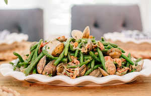 green beans with clams and bacon