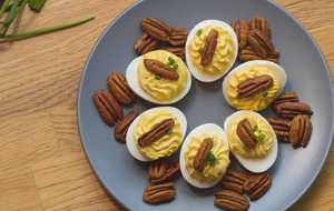 pecan deviled eggs