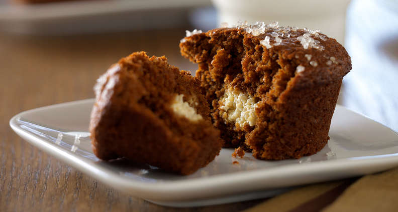 gingerbread secret muffins
