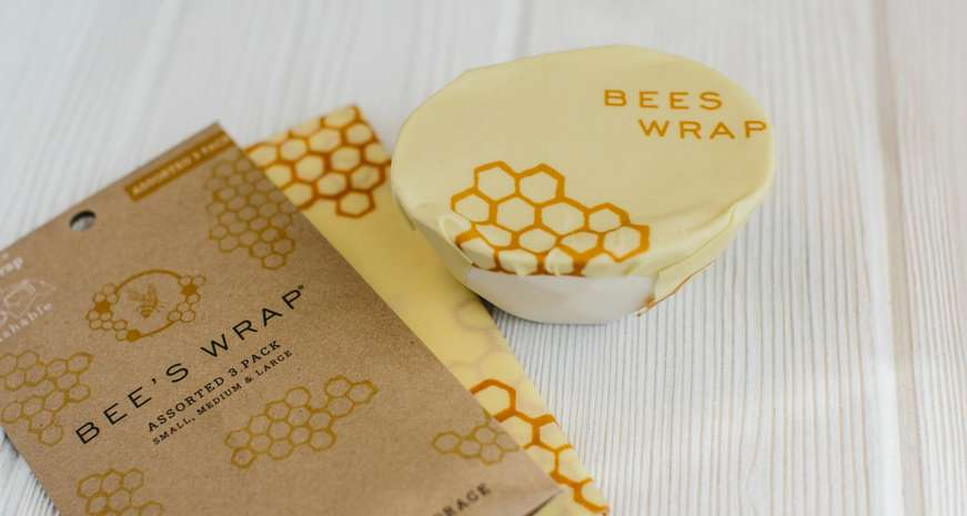 bee's wrap in honeycomb
