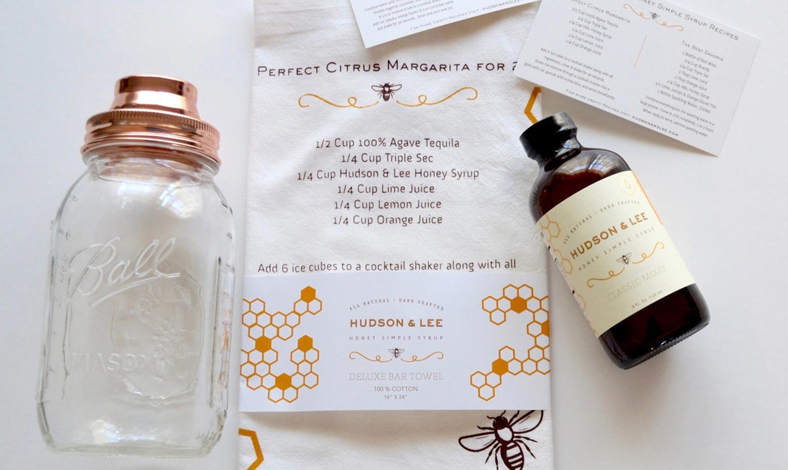 Hudson & Lee cocktail gift set