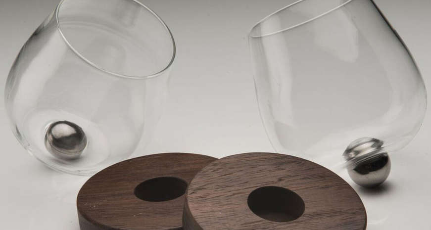 Aura Glass 2-pack with Coasters