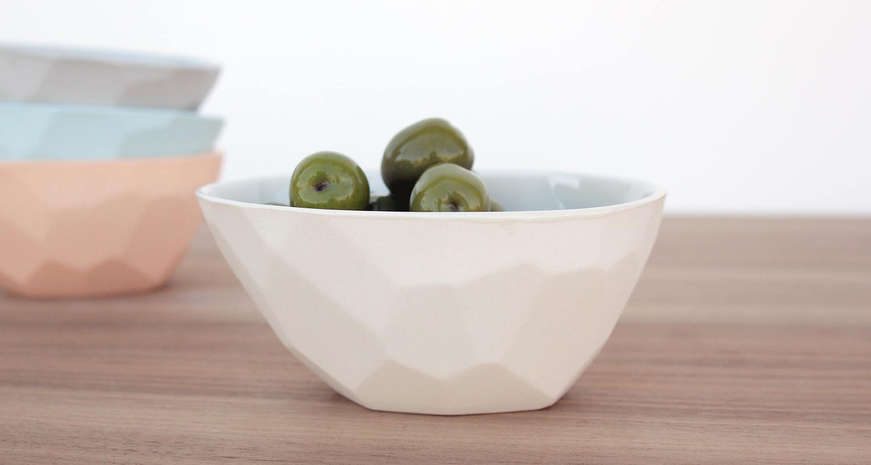 Bean & Bailey Faceted Olive Bowl