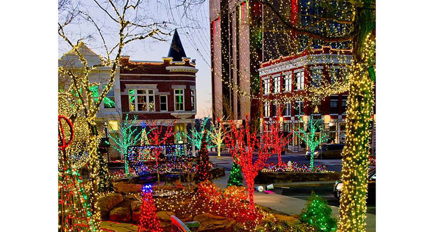 Downtown Square in Fayetteville