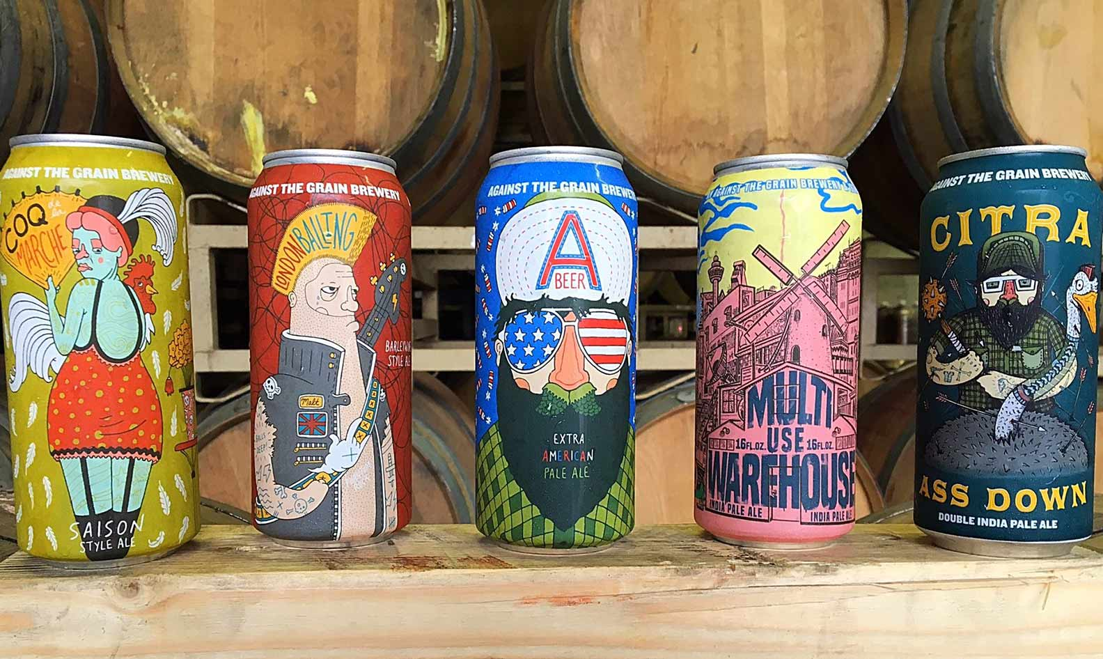 Against The Grain beers