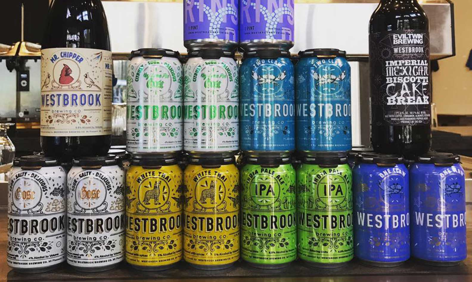 A collection of Westbrook beers