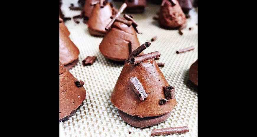 Mini Chocolate Concordes by Aggie Chin