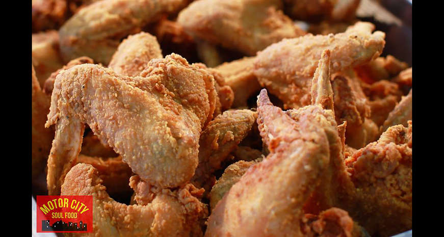 Fried chicken from Motor City Soul Food