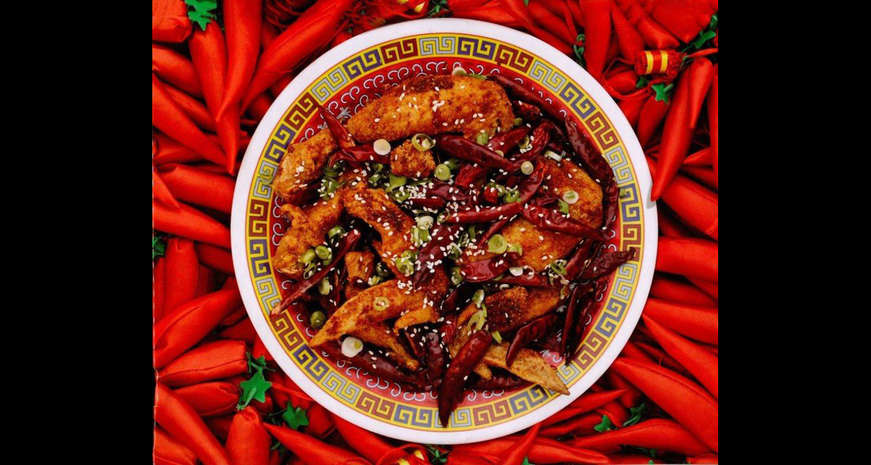 Spicy Wok-Fried Chicken with Chilis