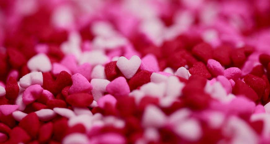Heart-shaped sprinkles