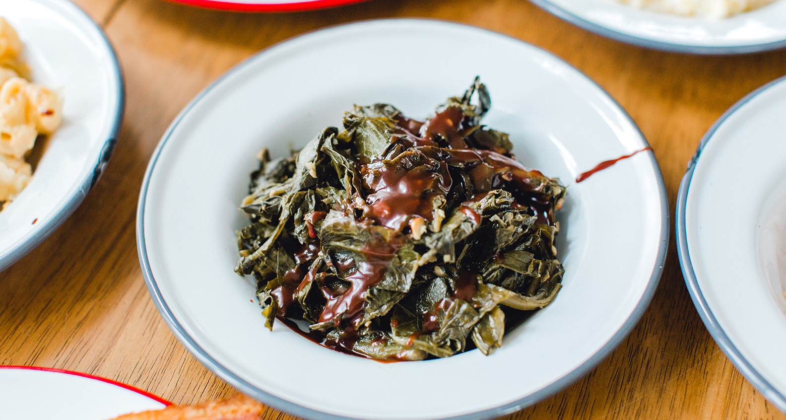 Chocolate-covered collard greens
