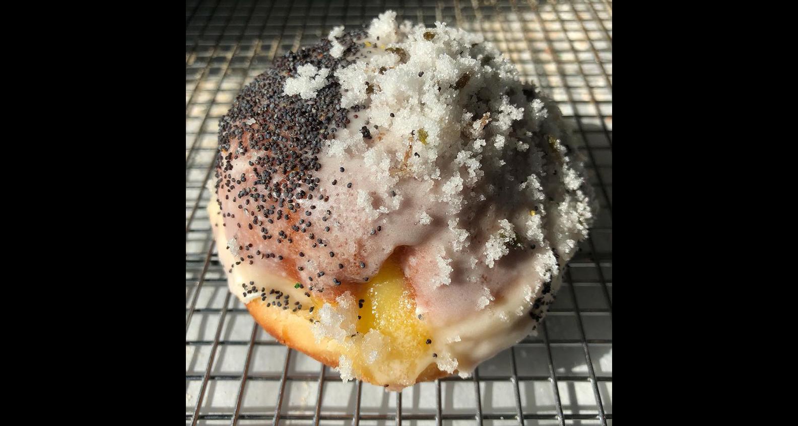 Lemon and lavender doughnut