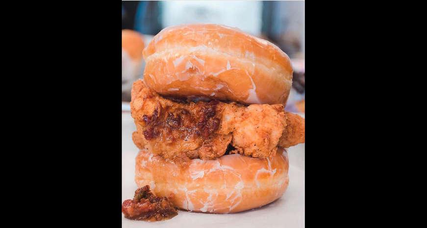 Double Donut Fried Chicken Sandwich