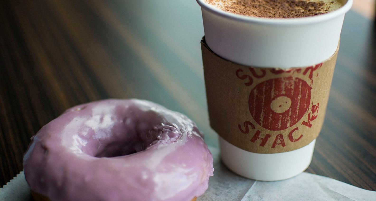 Honey lavender doughnut