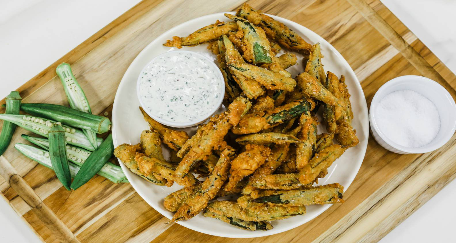 Fried Okra with Pickle Aioli