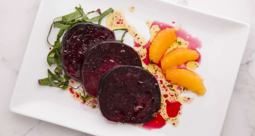 Jennifer Hill Booker's Roasted Beets and Orange Supremes with Citrus Vinaigrette