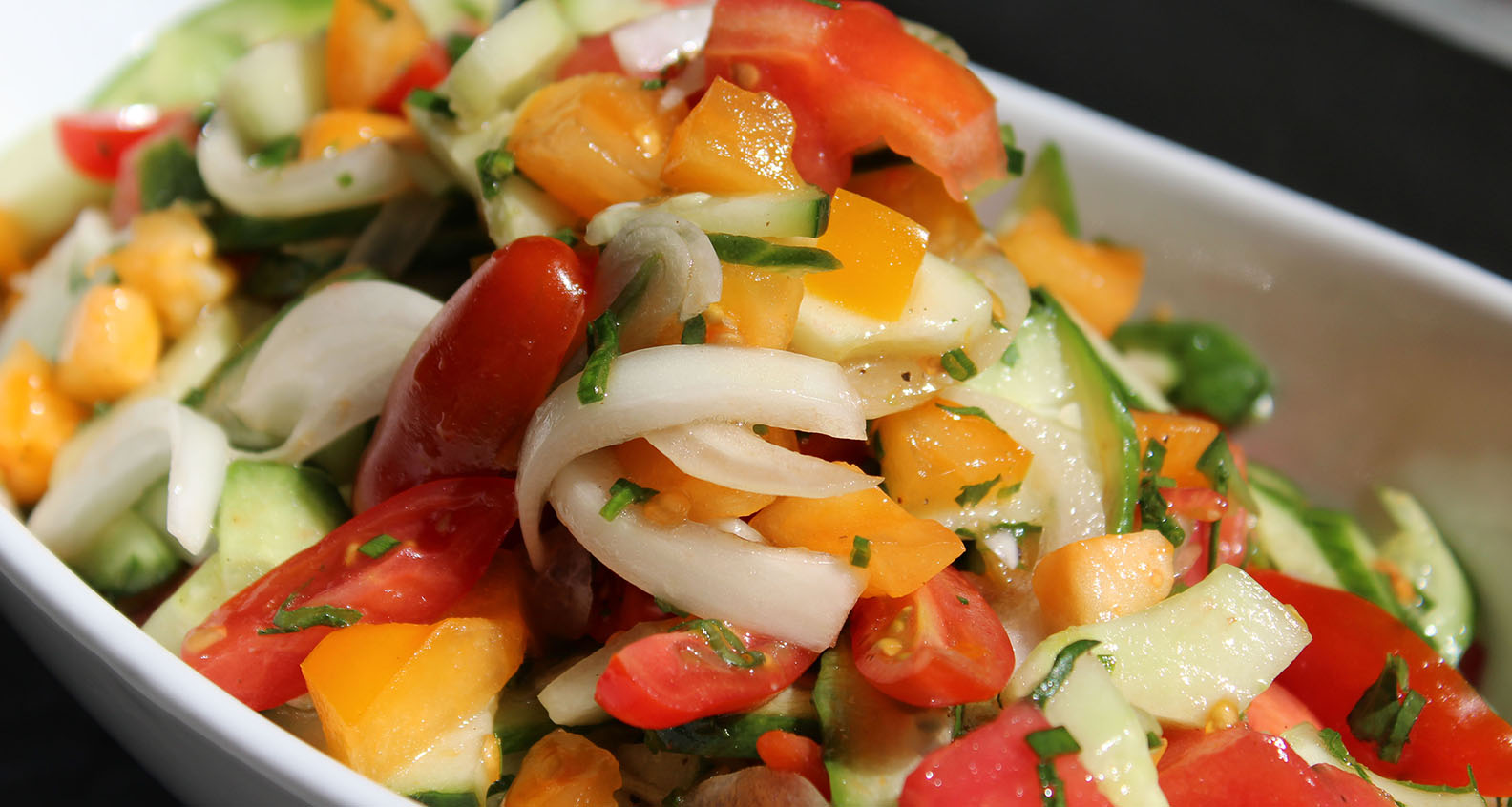 Southern Kitchen's Tomato and Cucumber Salad