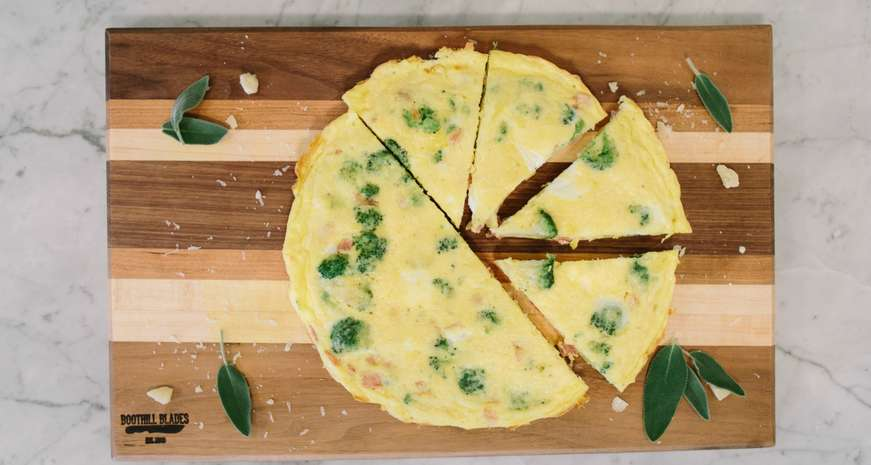 Country Ham and Broccoli Frittata