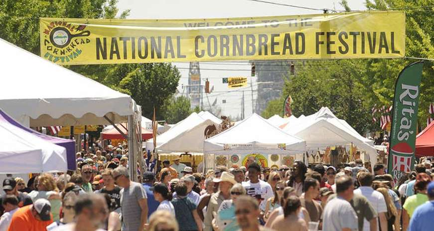 The National Cornbread Festival in South Pittsburg, Tennessee