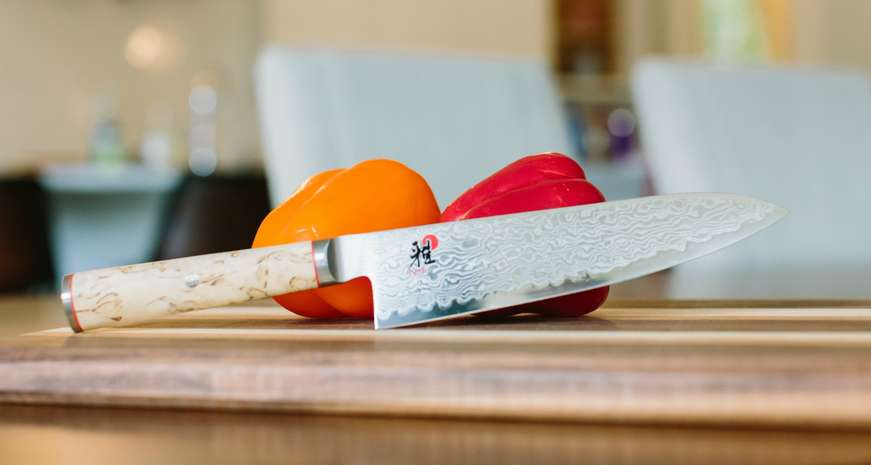 Miyabi Birchwood Knife and Cutting Board Set