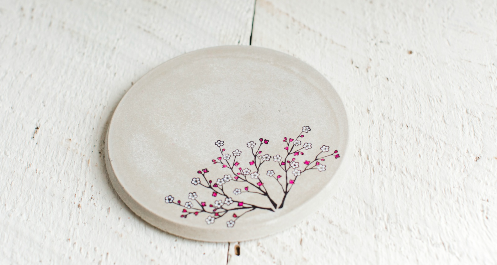 Mona Does Concrete Cherry Blossom Trivet