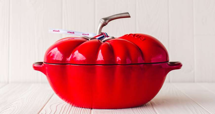 Staub Cast Iron 3-Quart Tomato Cocotte