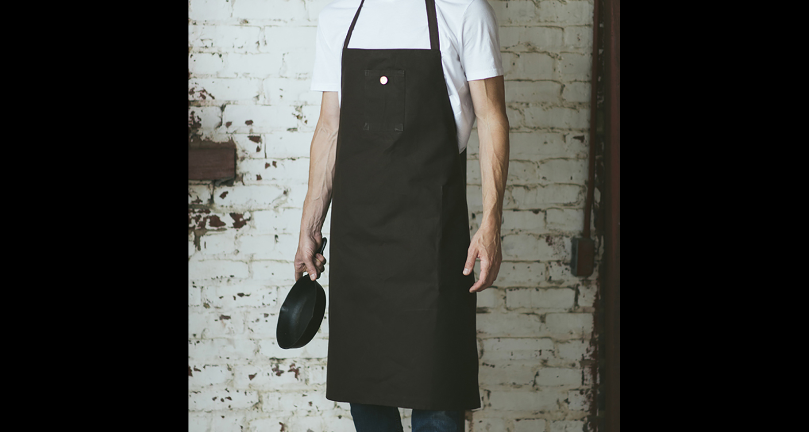 Heirloomed Waxed Canvas Men's Grilling Apron