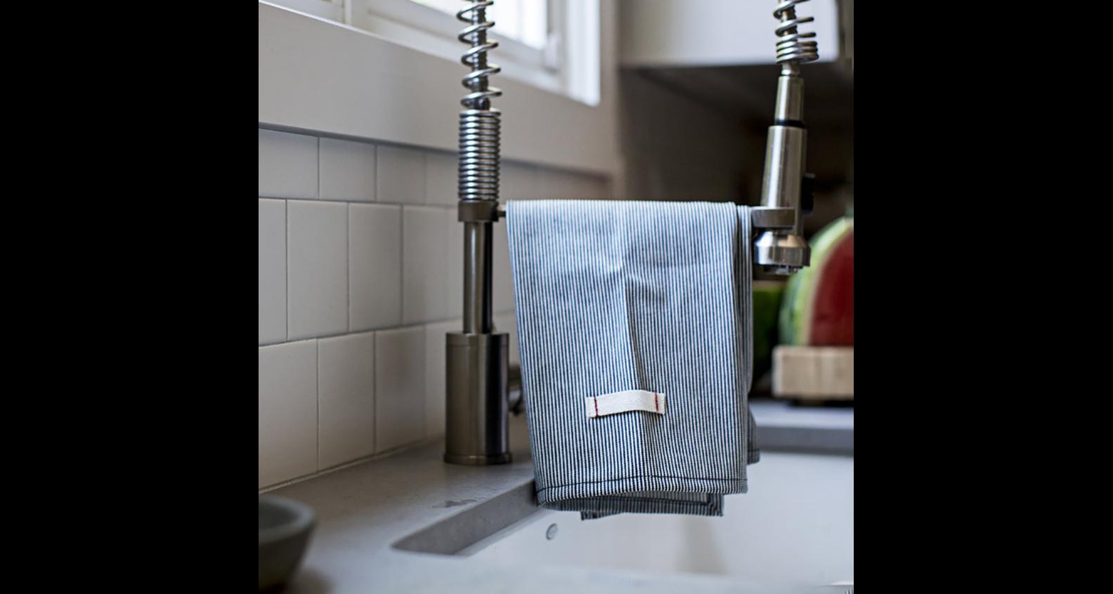 Heirloomed Railroad Stripe Tea Towels