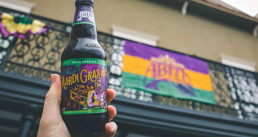 Mardi Gras Abita beer