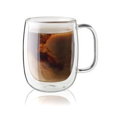Zwilling sorrento double wall glass coffee mug set plus