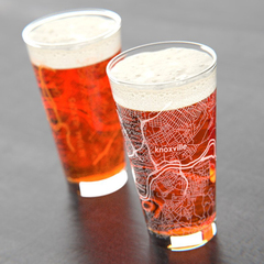 Knoxville maps pint glasses spree