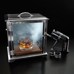 glass smoke box with smoking gun from crafthouse by fortessa
