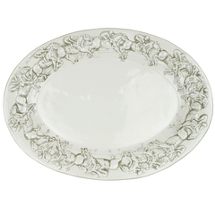 Stoneware   co embossed horse platter spree