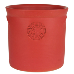 Stoneware and co matte red pickle crock