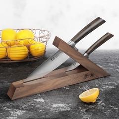 0004610 cangshan ta series 1021356 swedish sandvik 14c28n steel forged 3 piece knife block set walnut