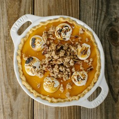 Sweet Potato Pie in Staub Pie Plate