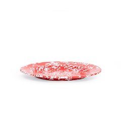 Crow Canyon Home Enamel Dinner Plate 10-inch Red Splatter