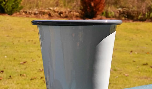 Crow Canyon Home Enamel Short Tumbler 10 ounce Grey Rim