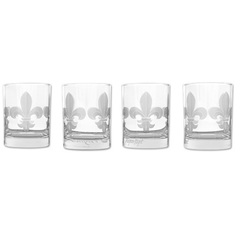 Set of four Mignon Faget Fleur-de-Lis Glasses