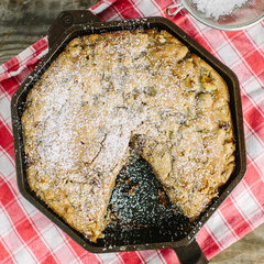pie inside a FINEX 8 inch cast iron skillet