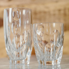 two long drink glasses with spherical shape from nachtmann