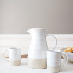 Stoneware pitcher wide