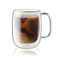 Zwilling sorrento double wall glass coffee mug set plus