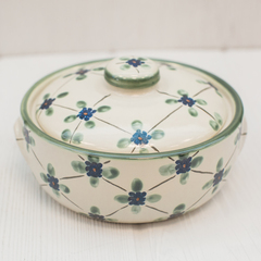 Stoneware 1qt casserole in french country 3
