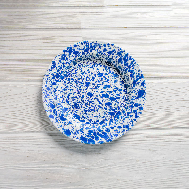 Crow Canyon Home Enamel Dinner Plate 10-inch Blue Splatter  sc 1 st  Southern Kitchen & Crow Canyon Home Enamel Dinner Plate 10-inch Blue | Southern Kitchen