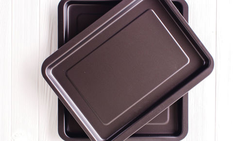 2 nonstick pans from ballarini stacked up