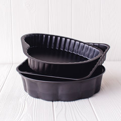 3 nonstick cake pans from ballarini stacked up