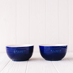 Set of 2 large universal bowls in dark blue from Staub
