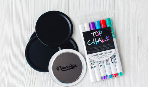 Wide Mouth lids with Chalk Markers