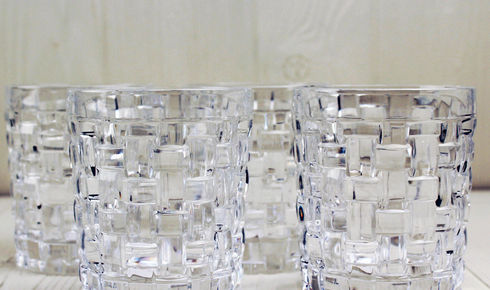 set of 4 clear whiskey tumblers from nachtmann